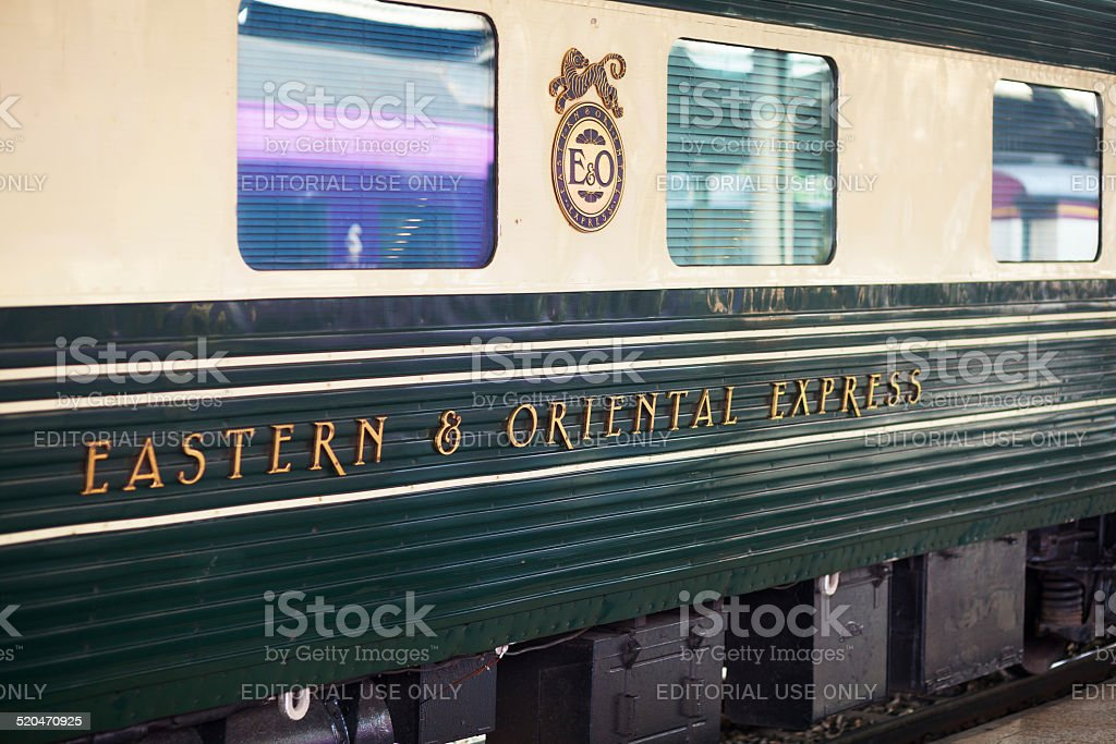 Waggon of Eastern Oriental Express train stock photo