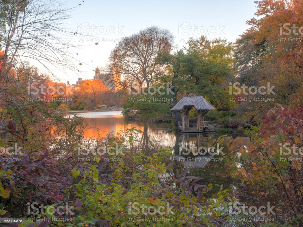 Wagner cove in autumn stock photo