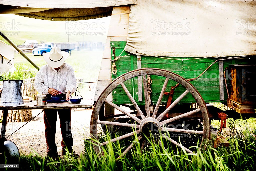 Wagon Cook House royalty-free stock photo