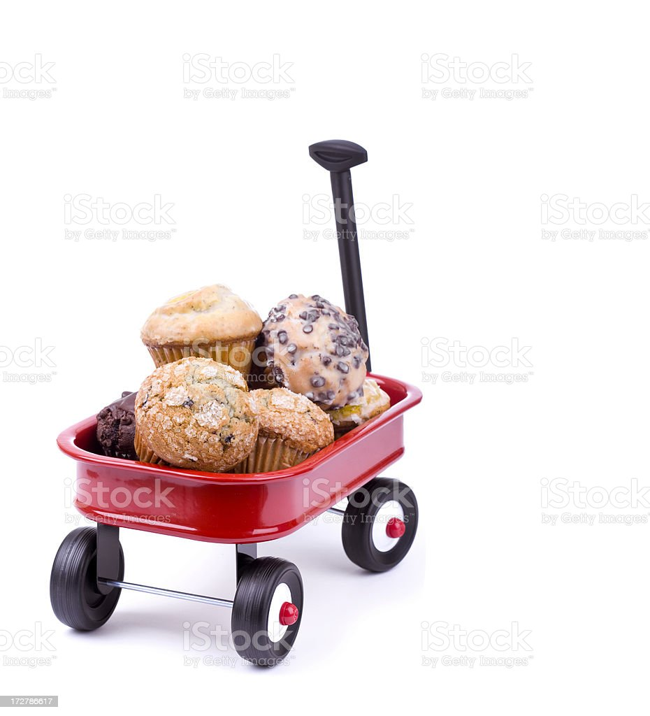 Wagon full of Muffins royalty-free stock photo