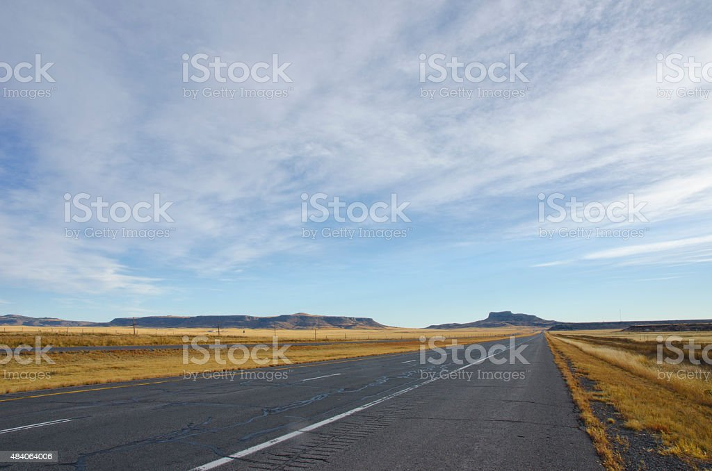 Wagon Mound Sky in New Mexico stock photo
