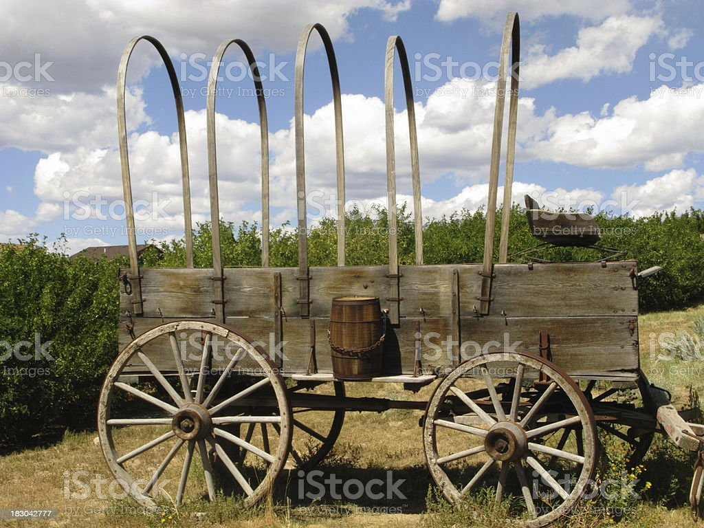 Wagon Pioneer Covered Vintage royalty-free stock photo