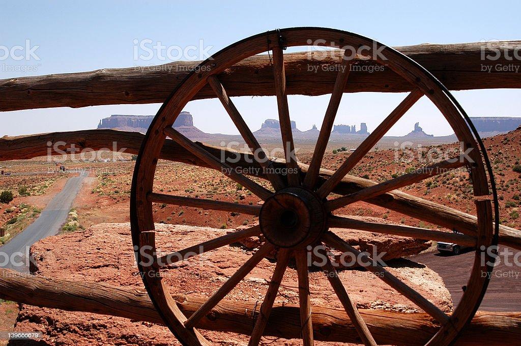 Wagon Wheel at Monument Valley royalty-free stock photo