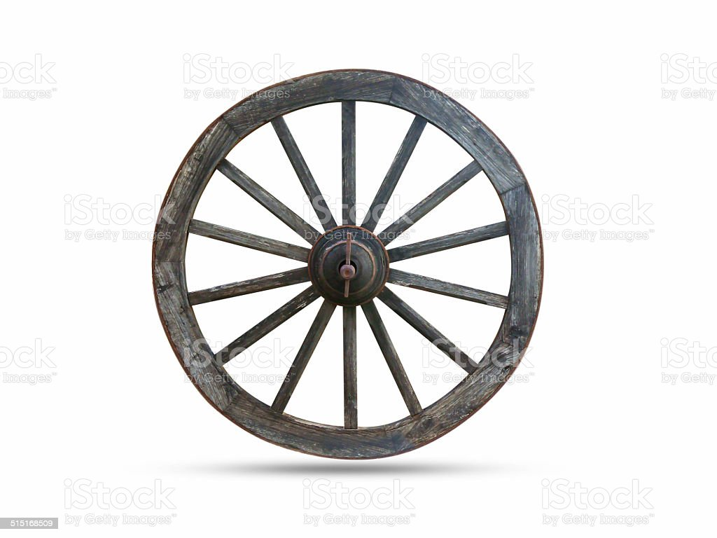 Wagon wheel carts stock photo