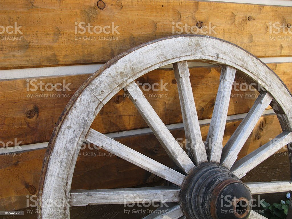 Wagon Wheel Close Up royalty-free stock photo