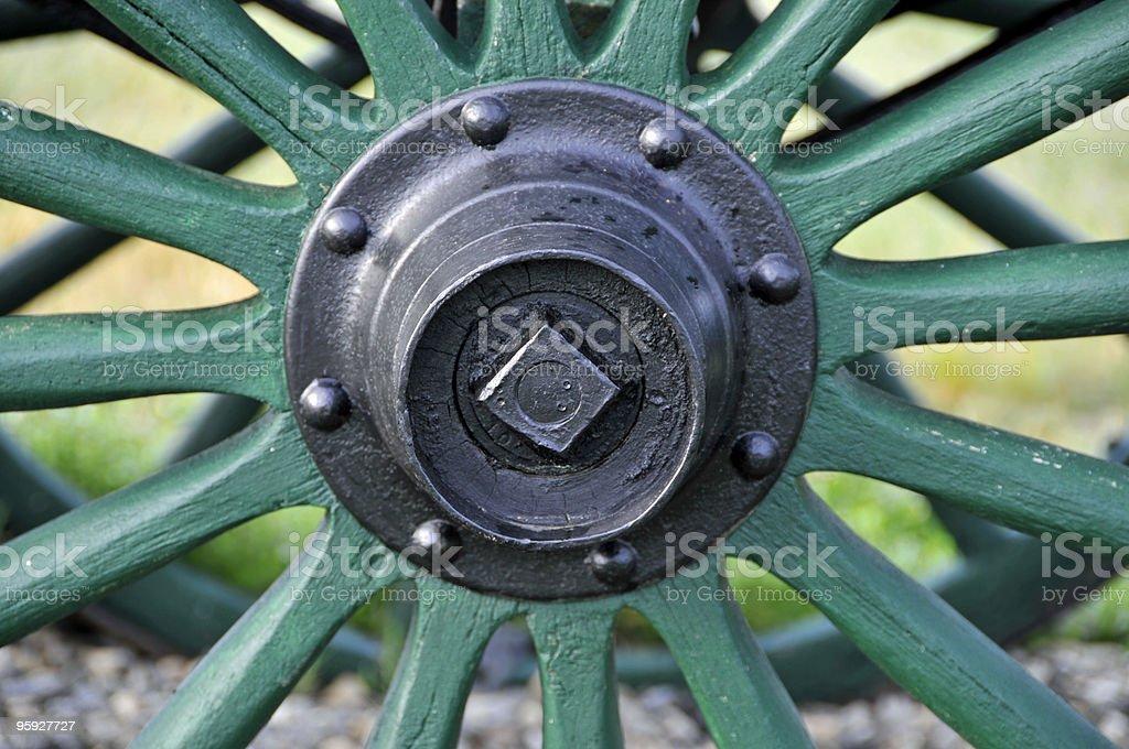 Wagon Wheel Hub royalty-free stock photo