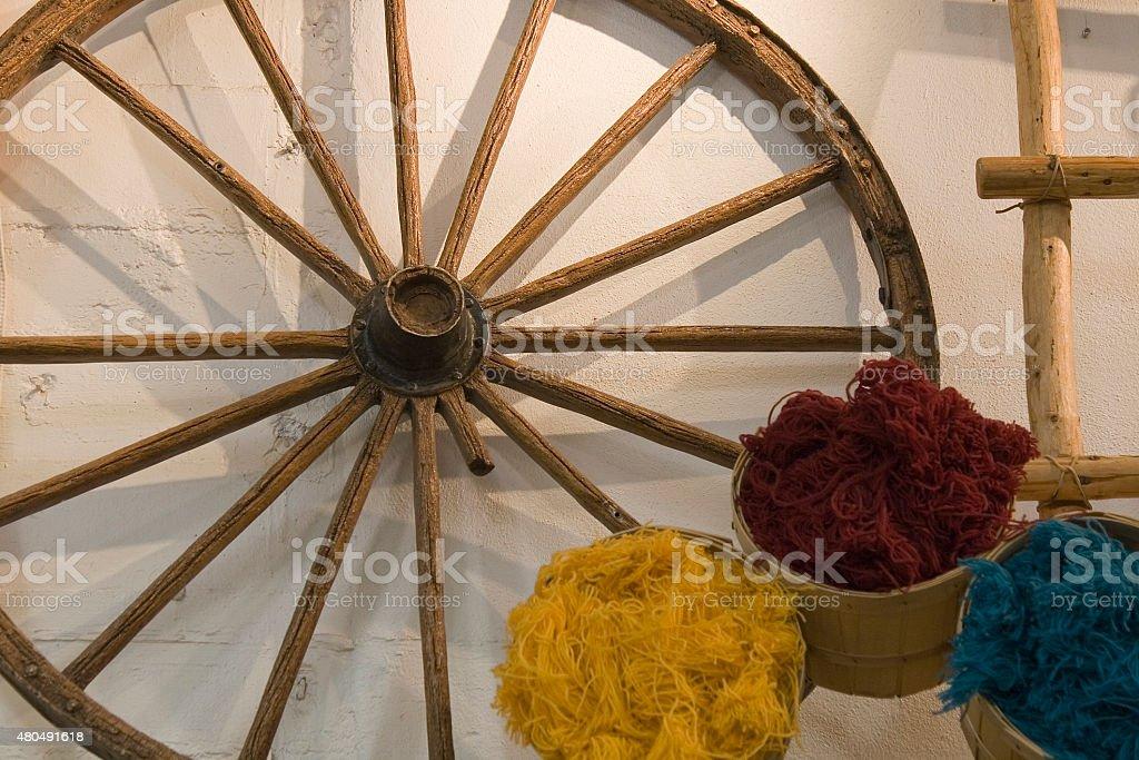 Wagon Wheel stock photo