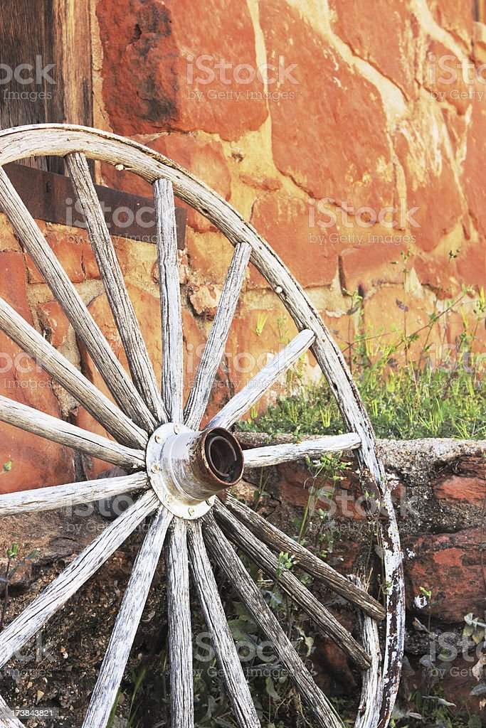 Wagon Wheel Spoke Hub stock photo