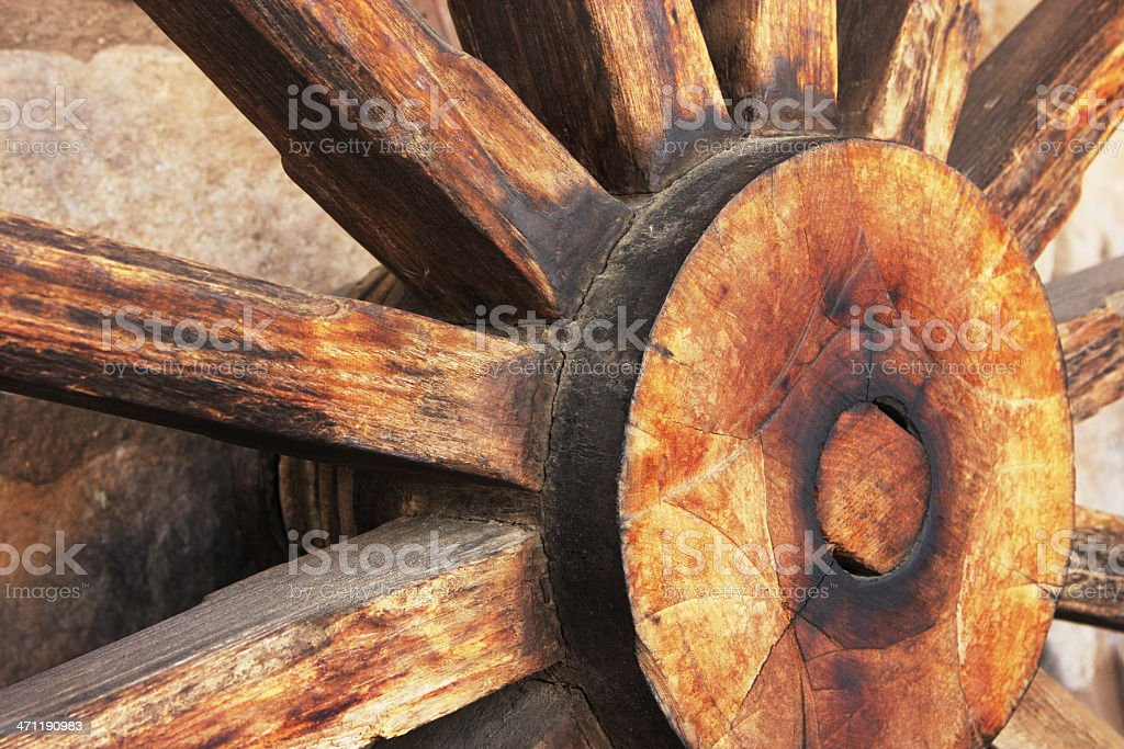 Wagon Wheel Spoke Hub royalty-free stock photo