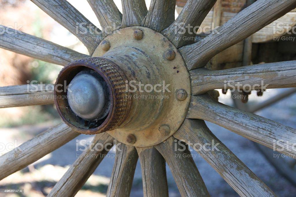Wagon Wheel Spokes 2 stock photo