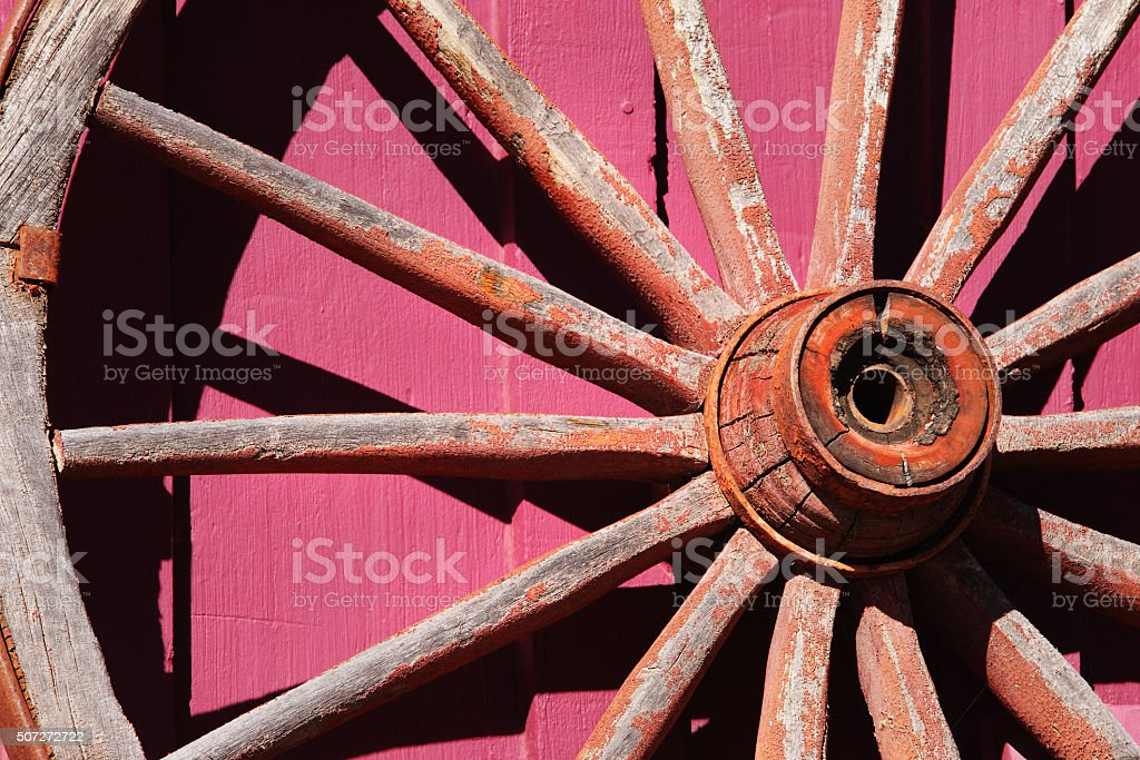 Wagon Wheel Spokes stock photo