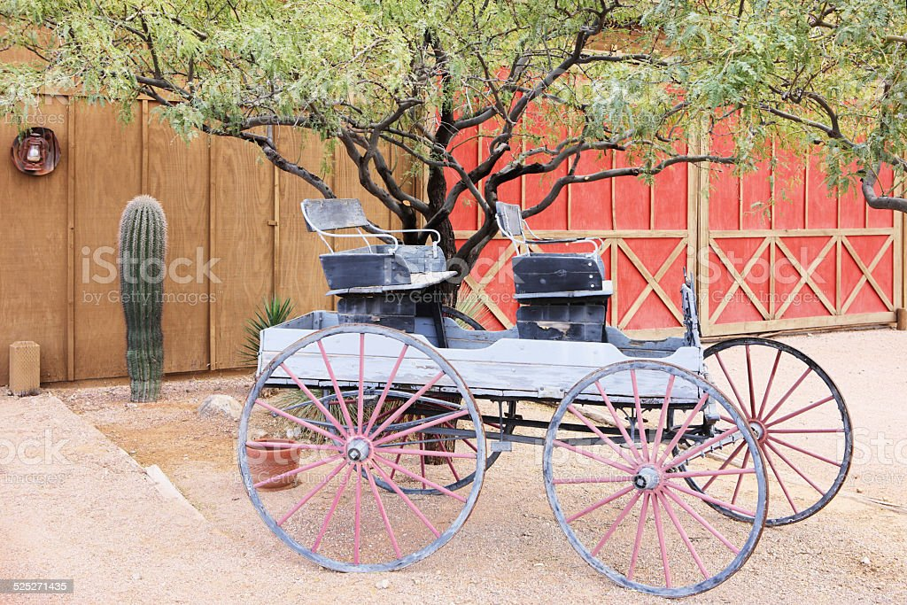Wagon Wheel Stagecoach Carriage Cart stock photo