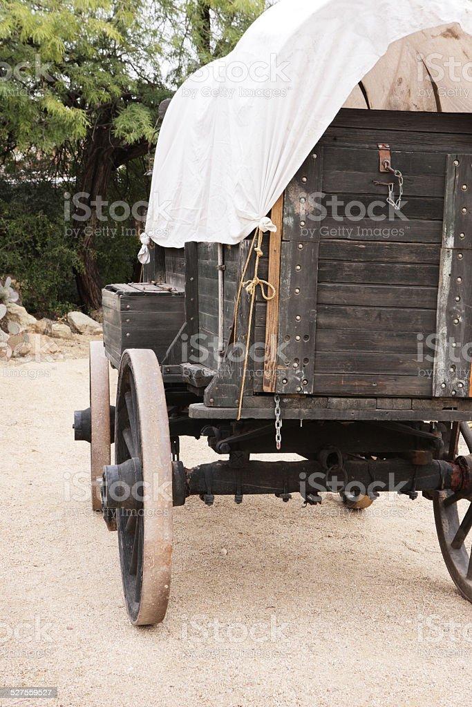 Wagon Wheel Stagecoach Carriage Cart stock photo