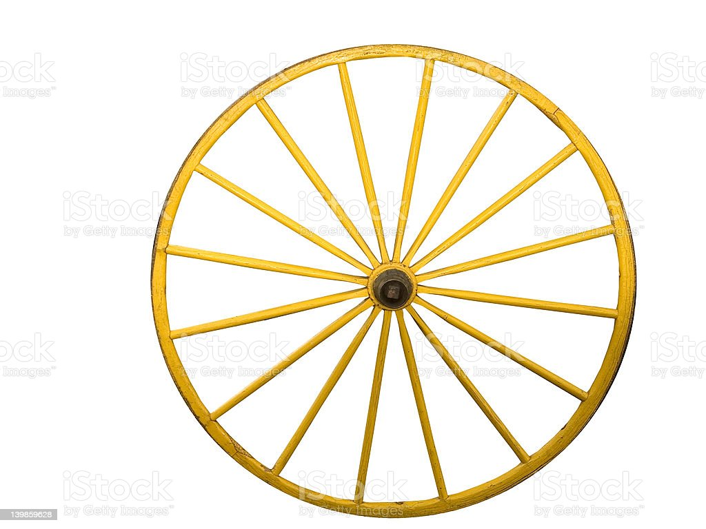 Wagon Wheel with path royalty-free stock photo