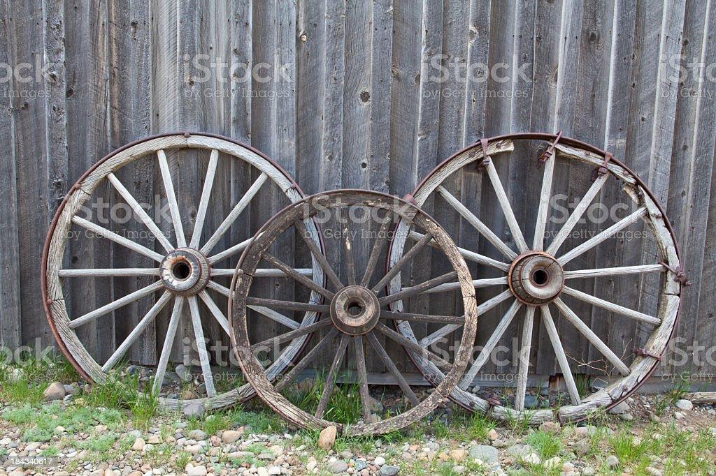 Wagon Wheels stock photo