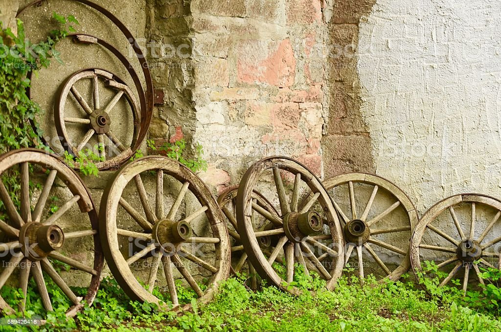 Wagon Wheels stock photo