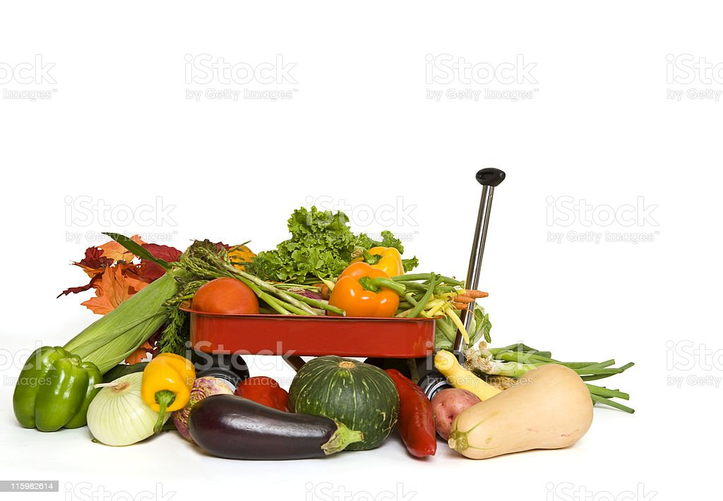 Wagonful of Vegetables royalty-free stock photo