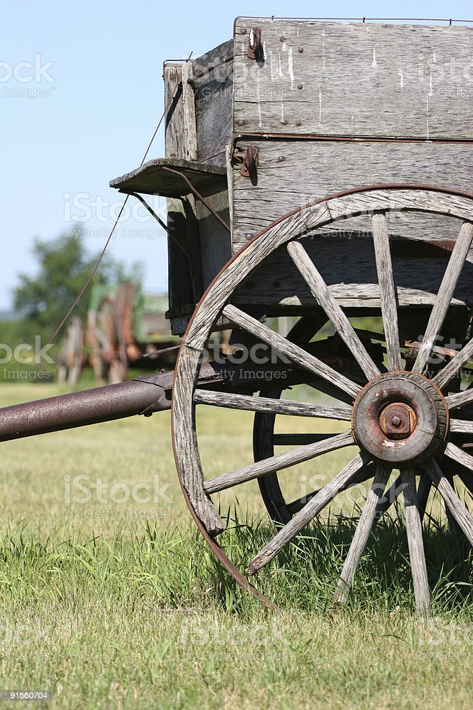 Wagons in a field royalty-free stock photo
