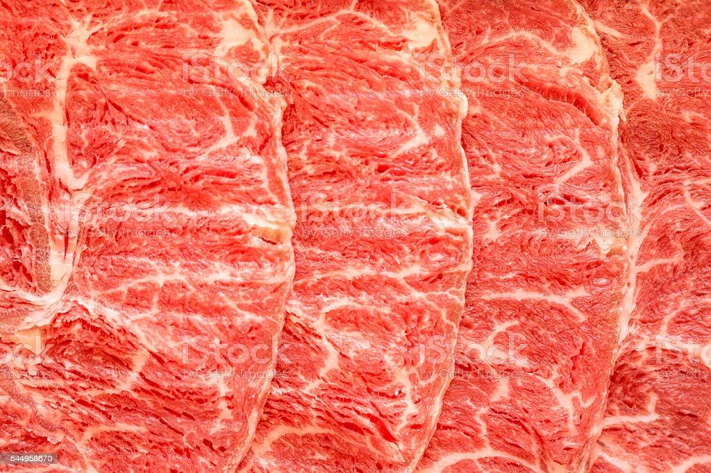Wagyu Beef Texture stock photo