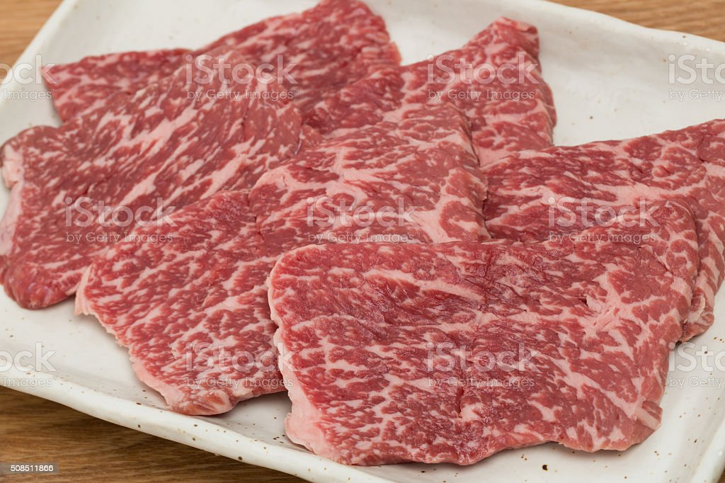 Wagyu beef thigh meat stock photo