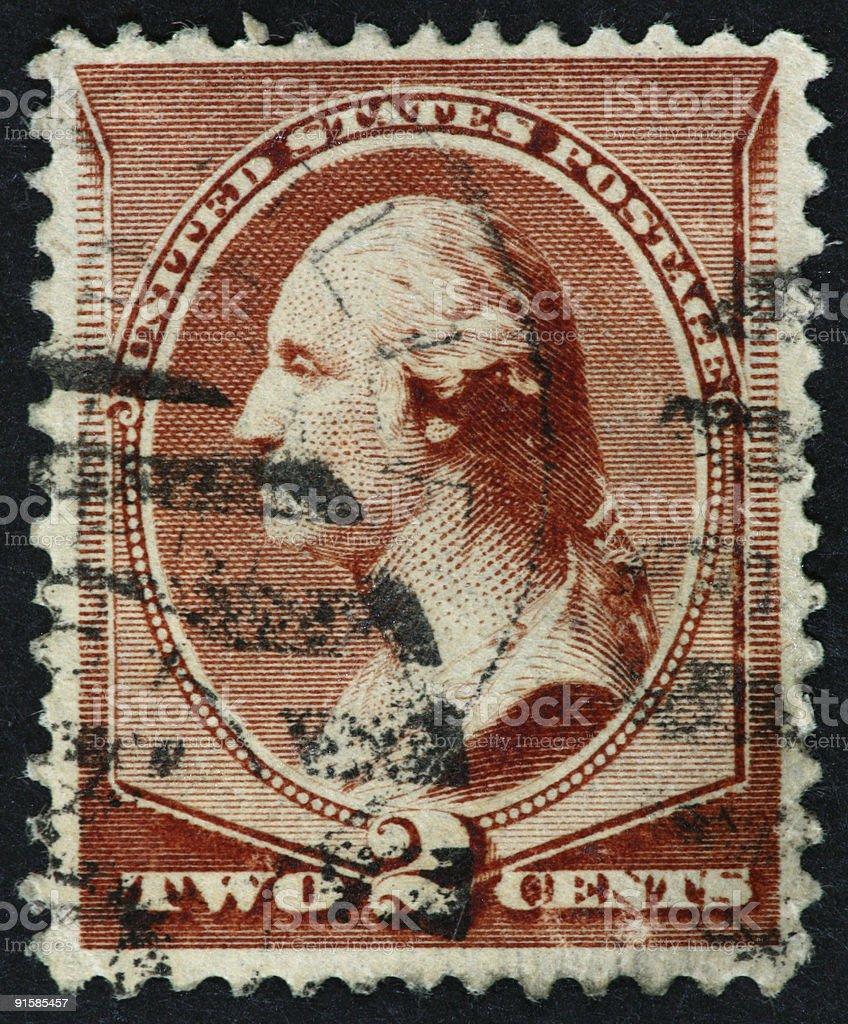 Wahington stamp 1882 royalty-free stock photo