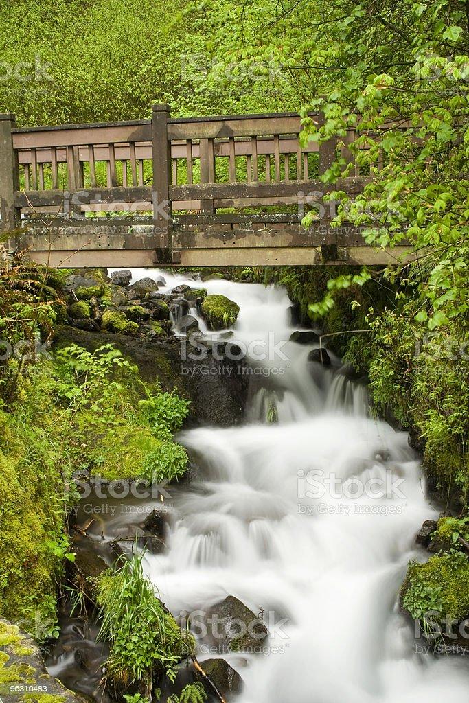 Wahkeena Falls royalty-free stock photo