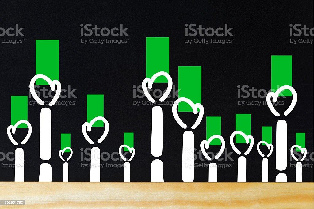 Wahl mit grüner Karte stock photo