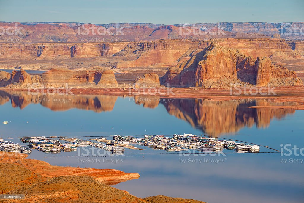 Wahweap Marina Lake Powell, Page, Arizona stock photo