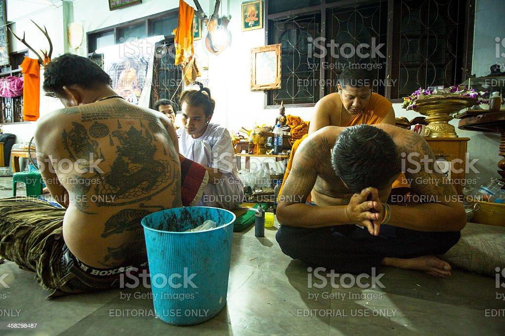 Wai Kroo Master Day Ceremony in Thailand royalty-free stock photo