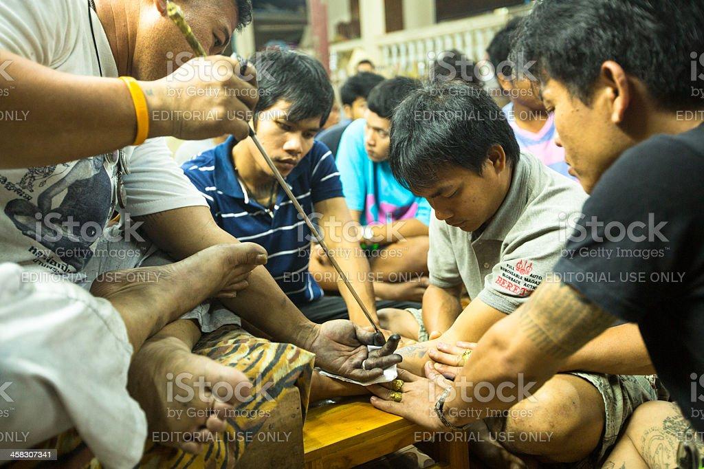 Wai Kroo Master Day Ceremony in Thailand stock photo