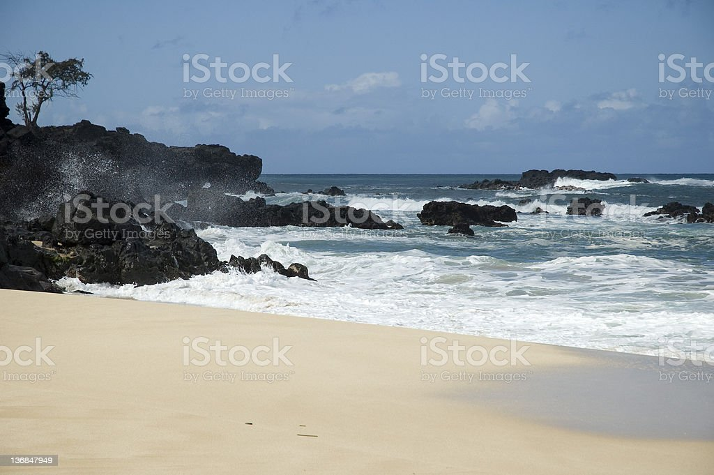 Waiamea Bay stock photo
