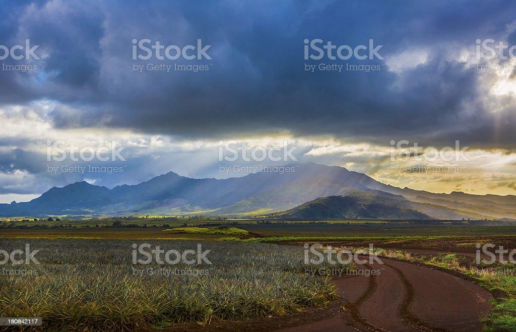 Waianae Mountains of Oahu, Hawaii royalty-free stock photo
