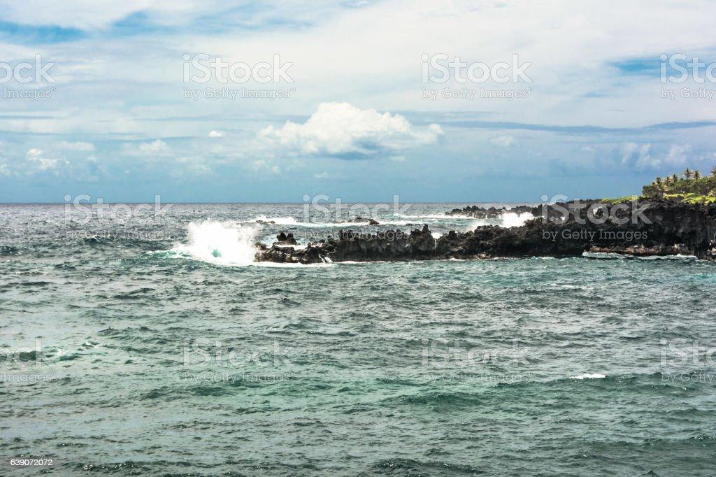 Waianapanapa coast, Maui, Hawaii stock photo