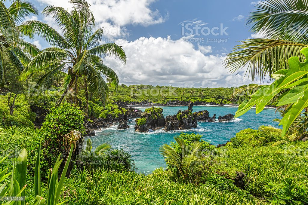 Waianapanapa stock photo