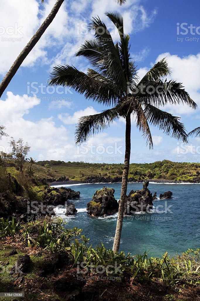 Waianapanapa State Park Maui Hawaii stock photo