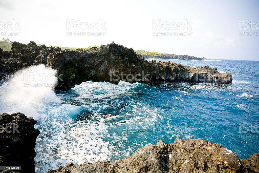 Wai'anapanapa State Park stock photo