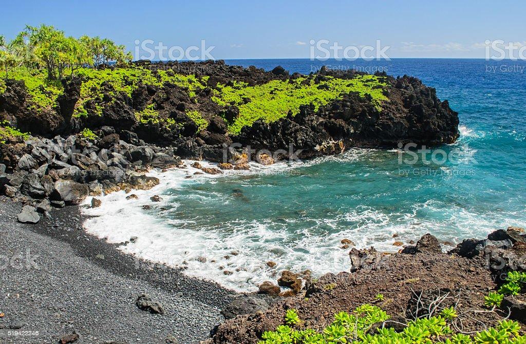 Waianapanapa State Park stock photo