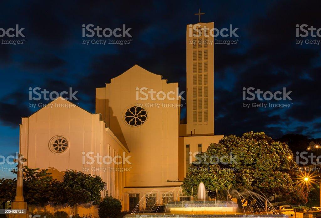 Waiapu Cathedral stock photo