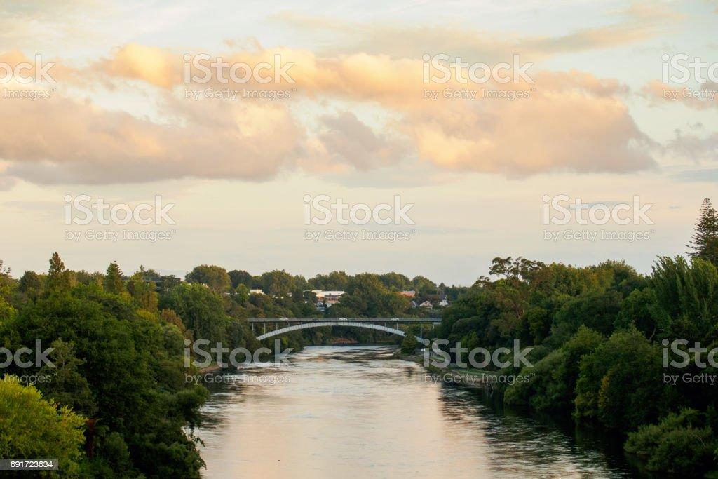Waikato River Hamilton New Zealand stock photo