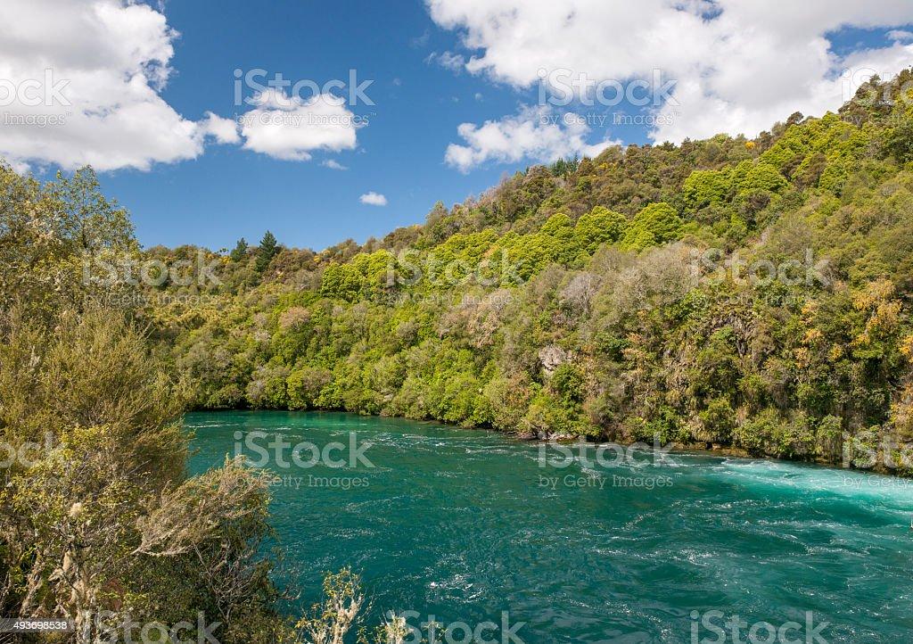 Waikato River, New Zealand stock photo