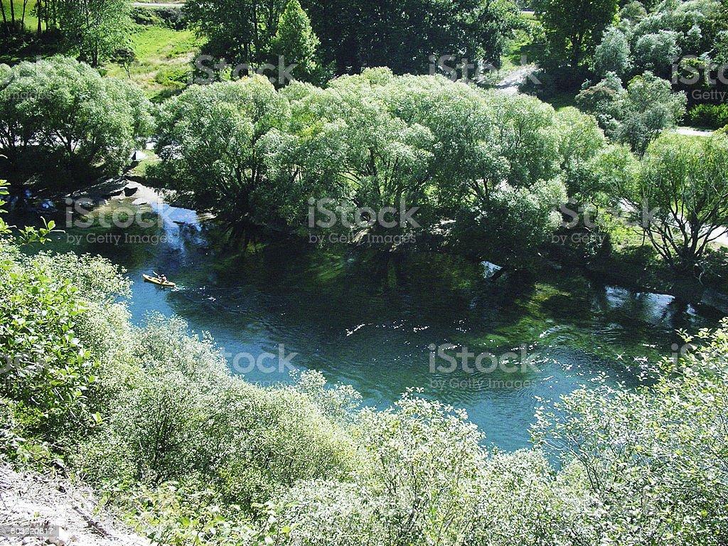 Waikato River stock photo