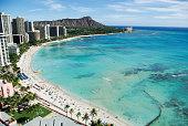 Waikiki Beach and Diamond Head, Honolulu