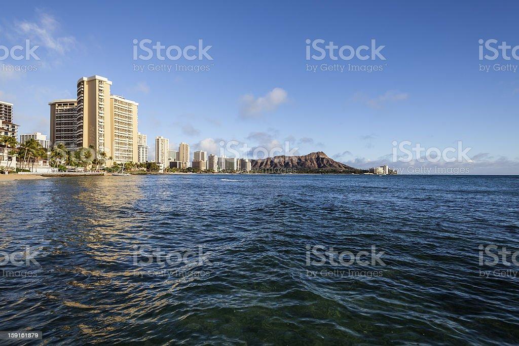 Waikiki Beach Honolulu Hawaii Afternoon royalty-free stock photo