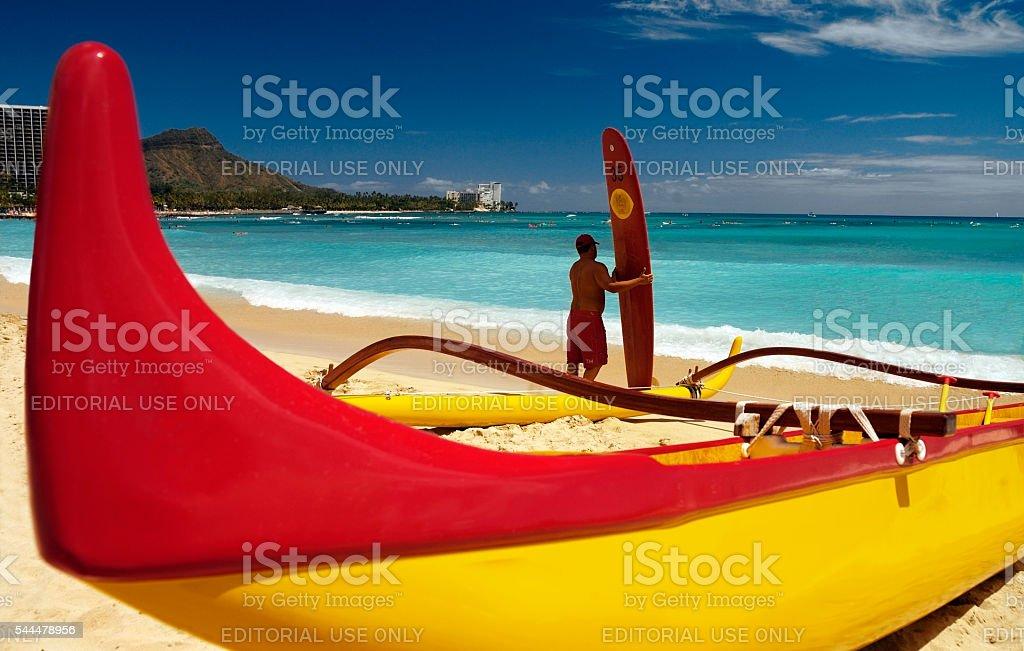 Waikiki Beach - Honolulu - Hawaii stock photo