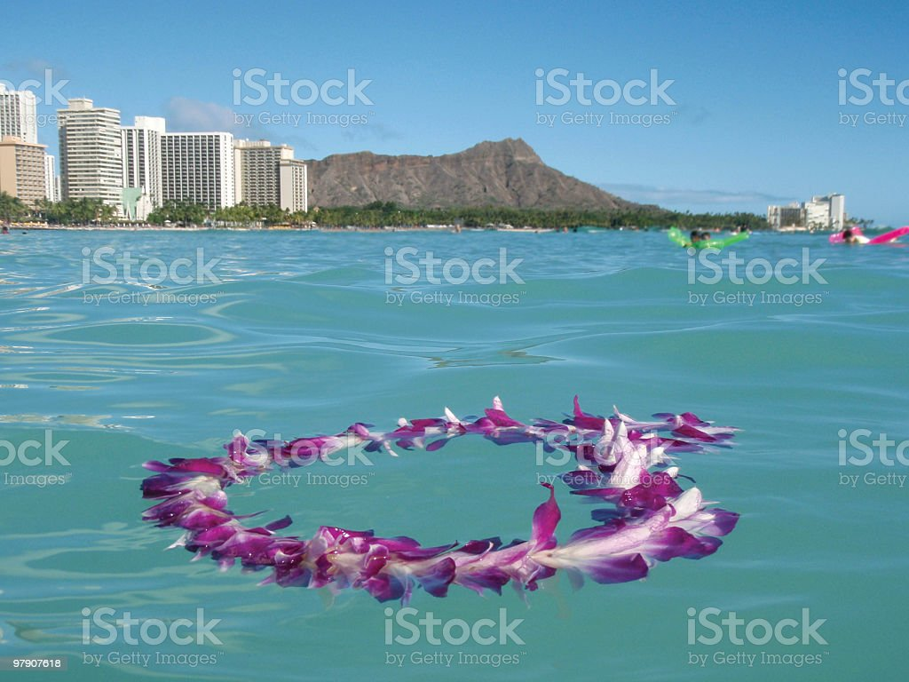 Waikiki Beach Lei stock photo