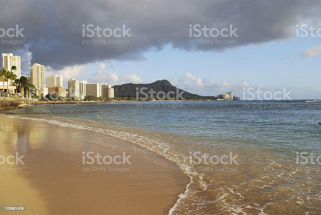 Waikiki Beach Oahu Hawaii royalty-free stock photo