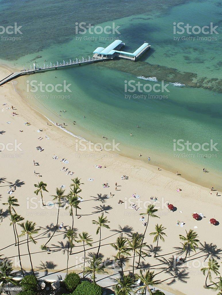 Waikiki Beach, Oahu, Hawaii stock photo