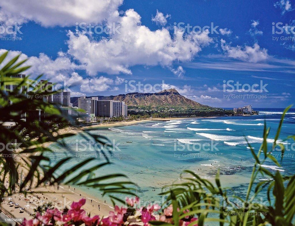 waikiki beach royalty-free stock photo