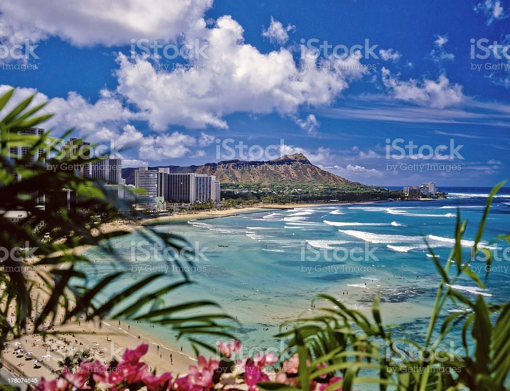 waikiki beach stock photo