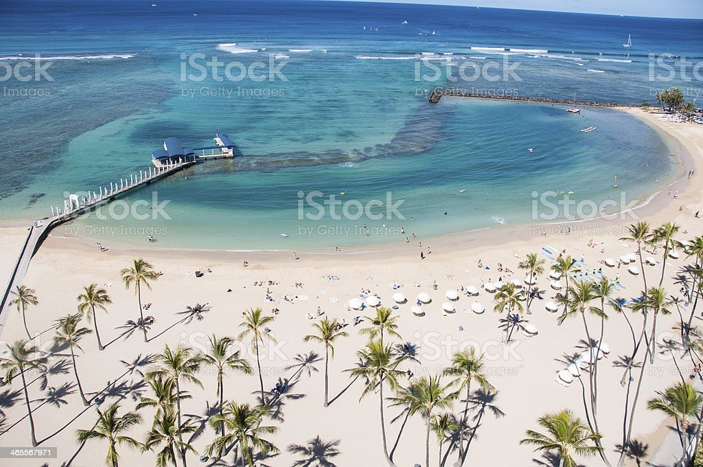 Waikiki Beach royalty-free stock photo